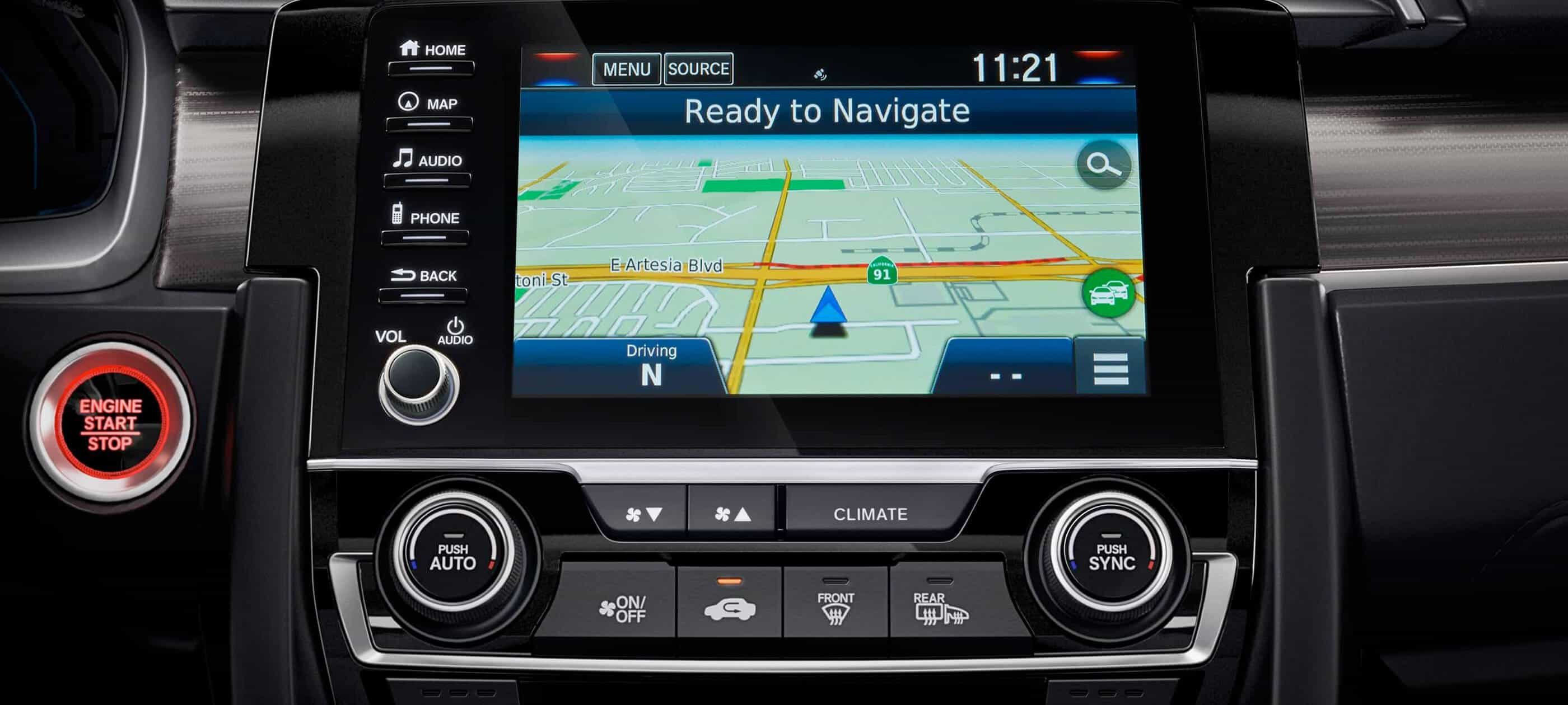 Honda Satellite-Linked Navigation System<sup>™</sup>