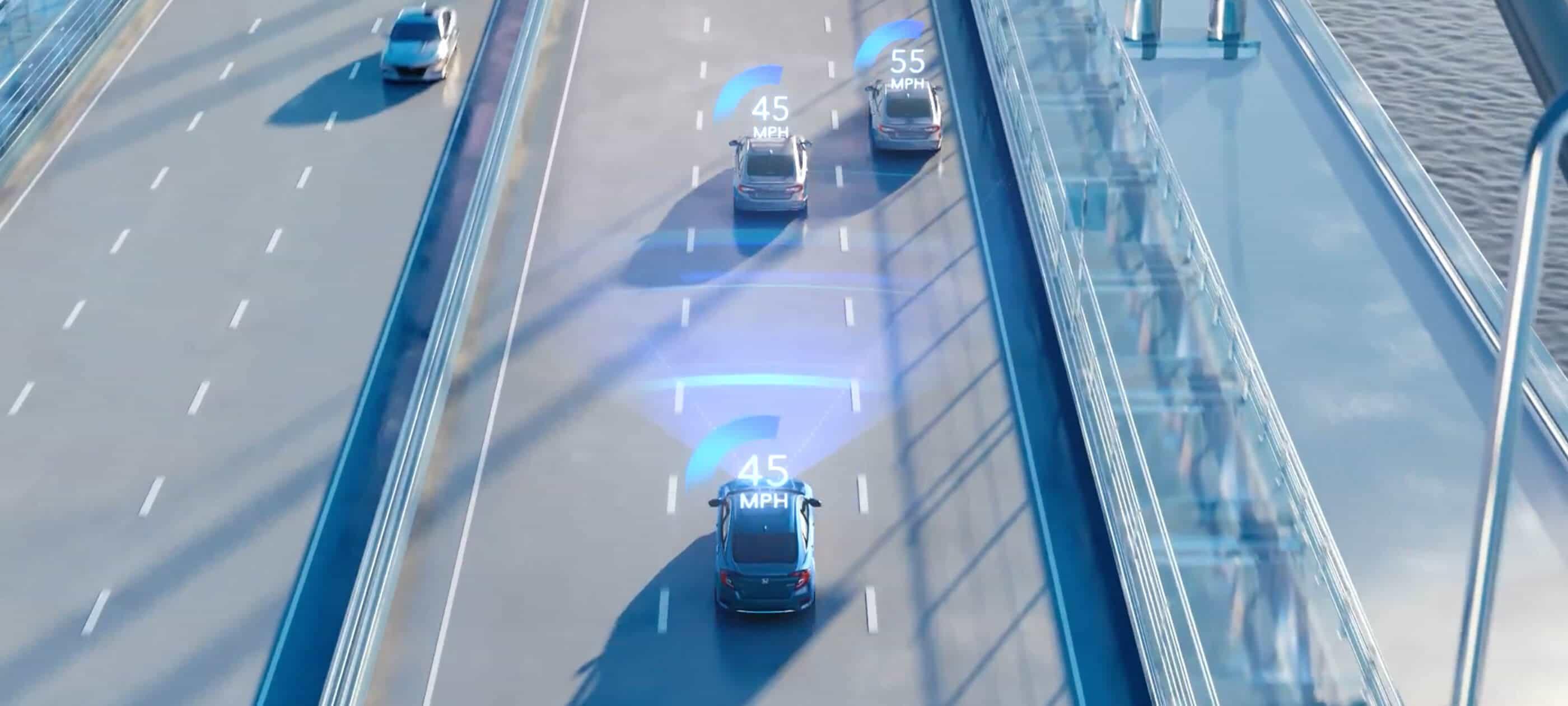 Control automático de crucero adaptable (ACC) con intervalos de velocidad reducida