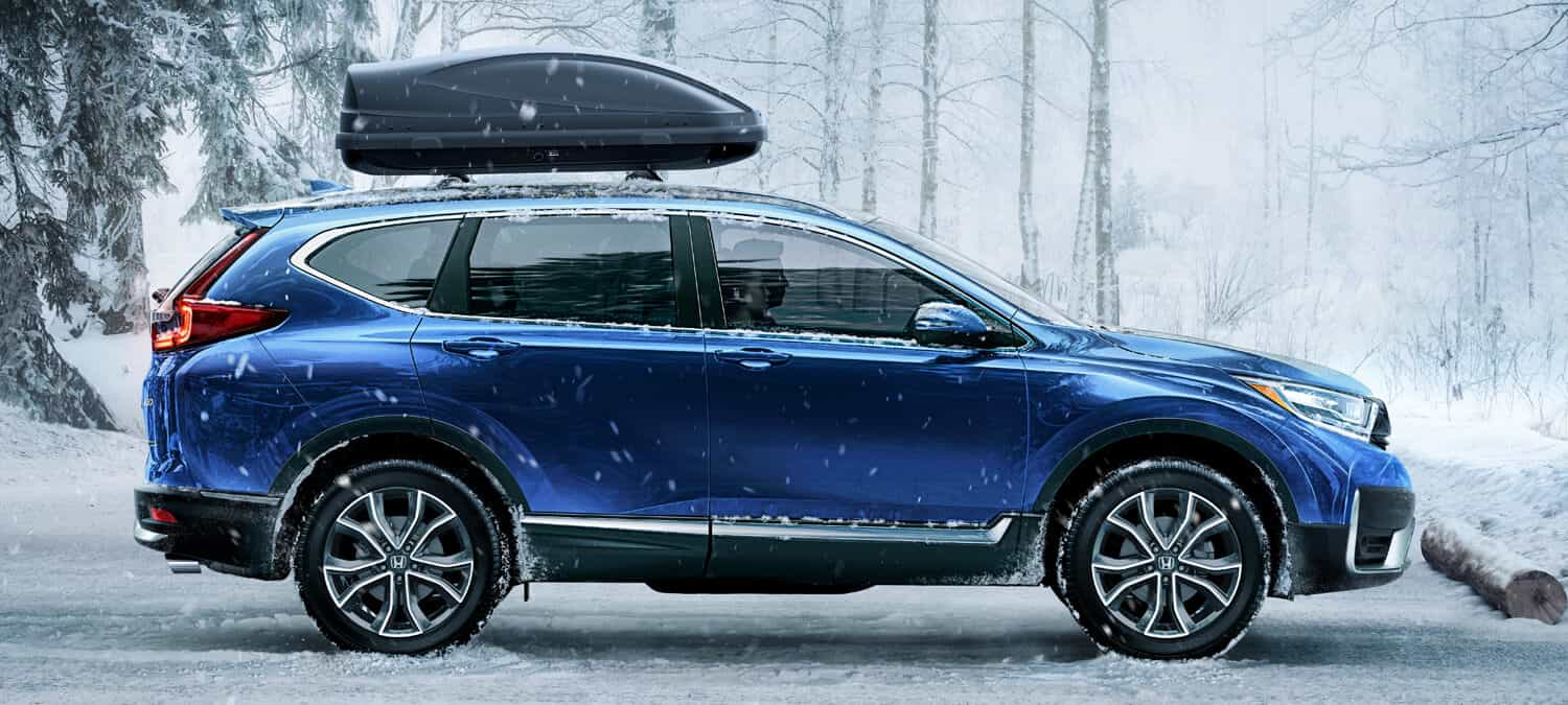 2020 Honda CR-V AWD Exterior Profile Snow Location
