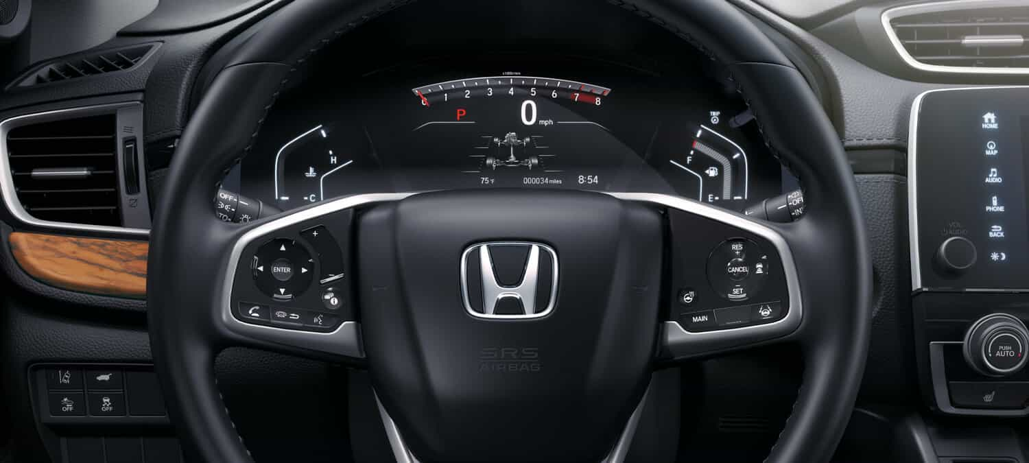 2020 Honda CR-V AWD Interior Steering Wheel Closeup