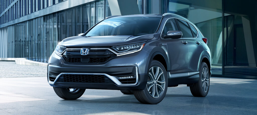2020 Honda CR V Hybrid AWD Exterior Front Angle Driver Side