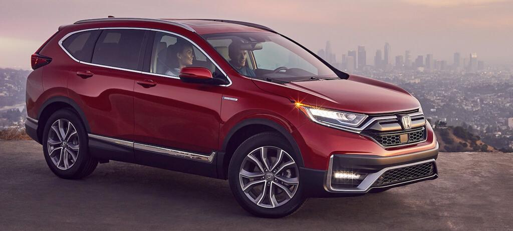 2020 Honda CR V Hybrid AWD Exterior Profile Passenger Side